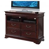 Acme Gwyneth Four Drawer Home Entertainment TV Console in Cherry 21867