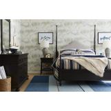 Stone & Leigh Smiling Hill 4pc Upholstered Panel Bedroom Set in Licorice