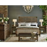 Legacy Classic 4-Piece Metalworks Wood Gate Bedroom Set in Factory Chic CODE:UNIV20 for 20% Off