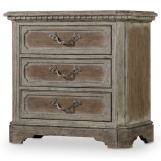 Hooker Furniture True Vintage Three-Drawer Nightstand in Light Wood 5701-90016