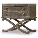 Hooker Furniture True Vintage Two-Drawer Nightstand in Light Wood 5701-90116