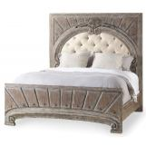 Hooker Furniture True Vintage King Upholstered Panel Bed in Light Wood 5701-90866