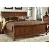 Liberty Furniture Rustic Traditions King Sleigh Bed in Rustic Cherry 589-BR-KSL