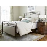 Paula Deen Home Dogwood Upholstered Metal Bedroom Set in Low Tide