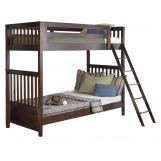 Liberty Furniture Abbott Ridge Youth Twin Over Twin Bunkbed in Cinnamon 277-YBUNK-TTB