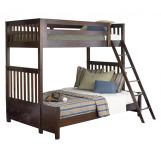 Liberty Furniture Abbott Ridge Youth Twin Over Full Bunkbed in Cinnamon 277-YBUNK-TFB