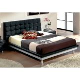 ESF Furniture 603 Toledo Queen Platform Bed in Black
