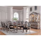 Acme Chantelle 9PC Dining Room Set in Antique Platinum