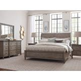 American Drew Savona 4pc Anna Sleigh Bedroom Set in Versaille