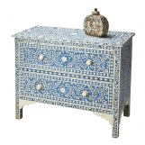 Butler Specialty Bone Inlay Two Large Drawer Chest in Heritage Blue 2851070