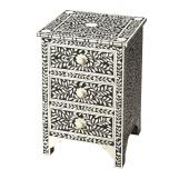 Butler Specialty Bone Inlay Three Drawer Accent Chest in Heritage Black 3202070
