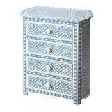 Butler Specialty Bone Inlay Four Drawer Accent Chest in Heritage Blue 3213070