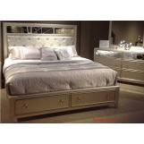Liberty 4-Piece Beverly Boulevard Storage Panel Bedroom Set in Champagne Wash