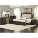 Liberty 4-Piece Manhattan Panel Bedroom Set in Sable & Champagne