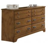 Carolina Furniture Creek Side Double Dresser in Autumn Oak 385600