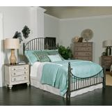 Kincaid Weatherford Catlins Metal Bedroom Set in Cornsilk