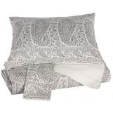 Paisley Queen Duvet Set in Gray Q490003Q