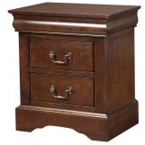 Alpine Furniture West Haven 2 Drawer Nightstand in Cappuccino