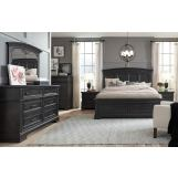 Legacy Classic Townsend 4pc Arched Panel Storage Bedroom Set in Dark Sepia