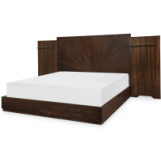 Legacy Classic Paldao Wall Queen panel Bed in Sadle