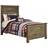 Trinell Twin Panel Bed in Warm Rustic Oak B446-TWIN