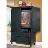 Homelegance Pottery Armoire in Black 875-7