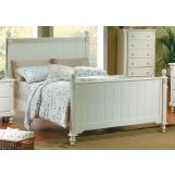 Homelegance Pottery Queen Panel Bed in White 875W-1