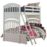 Legacy Classic Kids Academy Twin Over Full Bunk Bed in White 5811-8140K