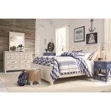 Legacy Classic Kids Lake House Low Post Bedroom Set in Pebble White