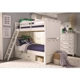 Legacy Classic Kids Lake House Bunk Bedroom Set in Pebble White