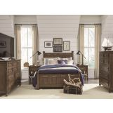 Legacy Classic Kids Lake House Low Post Bedroom Set in Cabin Brown