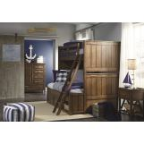 Legacy Classic Kids Lake House Bunk Bedroom Set in Cabin Brown
