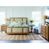 Barclay Butera Newport 4pc Upholstered Panel Bedroom Set in Sandstone