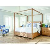 Barclay Butera Newport 4pc Canopy Bedroom Set in Sandstone