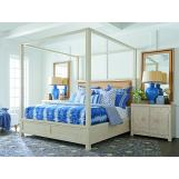 Barclay Butera Newport 4pc Canopy Bedroom Set in Sailcloth