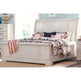 Klaussner Coming Home Retreat California King Sleigh Bed in Chalk 926-160