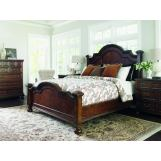 Lexington Coventry Hills 4 Piece Roxbury Panel Bedroom Set in Autumn Brown