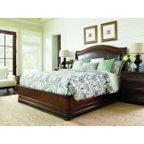 Lexington Coventry Hills 4 Piece Chandler Mills Sleigh Bedroom Set in Autumn Brown