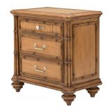 Aico Excursions 3 Drawer Nightstand in Caramel Cashmere 9081040-109