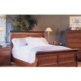 Durham Furniture Chateau Fontaine 4-piece Sleigh Bedroom Set w/ Low Footboard in Candlelight