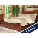 Durham Furniture Chateau Fontaine 4-piece Euro Bedroom Set in Candlelight