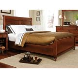 Durham Furniture Savile Row Queen Sleigh Bed w/ Low Footboard in Victorian Mahogany 980-127B-VICM