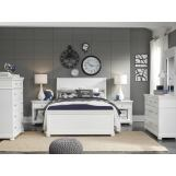 Legacy Classic Kids Canterbury 4pc Sleigh Bedroom Set in Natural White