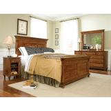 Durham Furniture Savile Row 4-piece Panel Bedroom Set in Park Lane