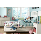 Legacy Classic Kids Park City Platform Storage Twin Bed in White PROMO PROMO
