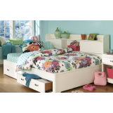 Legacy Classic Kids Park City Study Lounge Twin Bed in White PROMO PROMO