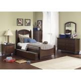Liberty Furniture Abbott Ridge Youth 4 Piece Panel Bedroom Set  in Cinnamon