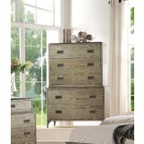Acme Athouman 5 Drawer Chest in Weathered Oak 23926