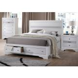 Acme Naima Queen Panel Storage Bed in White 25770Q