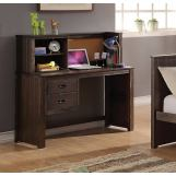 Acme Furniture Hector 2 Drawer Desk with Hutch in Antique Charcoal Brown